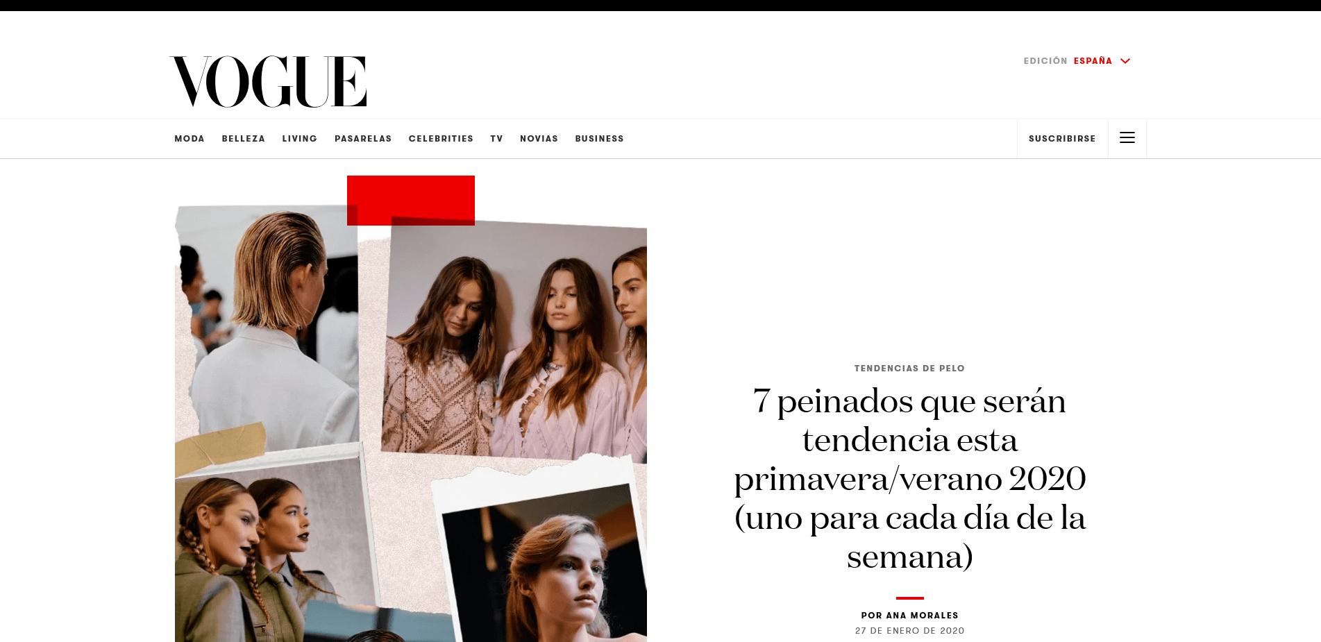 Peluqueria Vigo Sirope 7 peinados que serán tendencia esta primavera verano 2020 (uno para cada día de la semana)