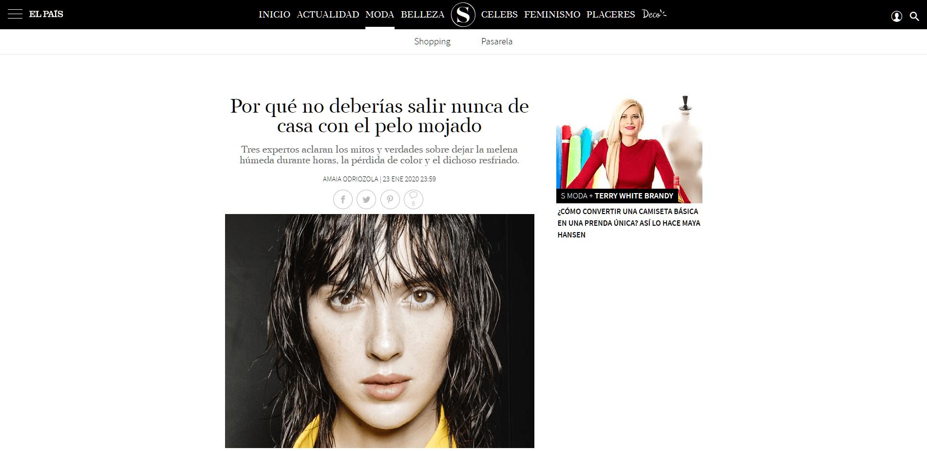 Peluqueria Vigo Sirope Por qué no deberías salir nunca de casa con el pelo mojado S Moda