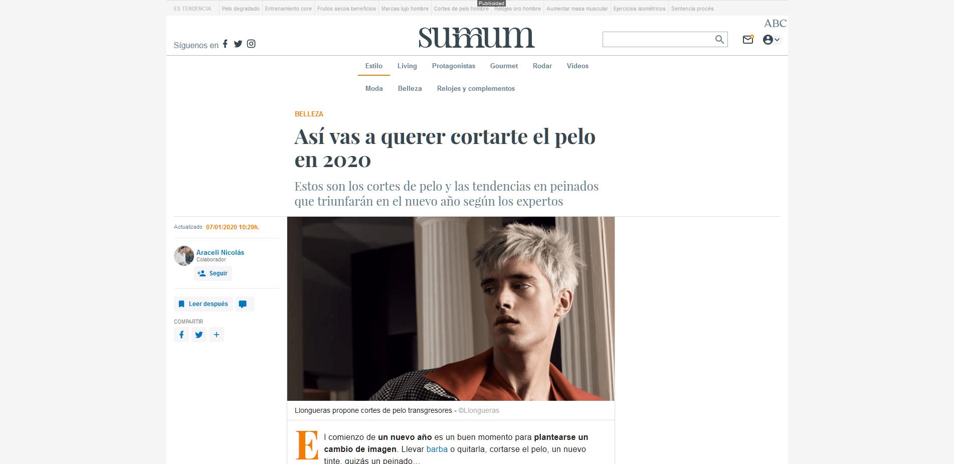 Press Tips Vigo Peluqueria Sirope Así vas a querer cortarte el pelo en 2020