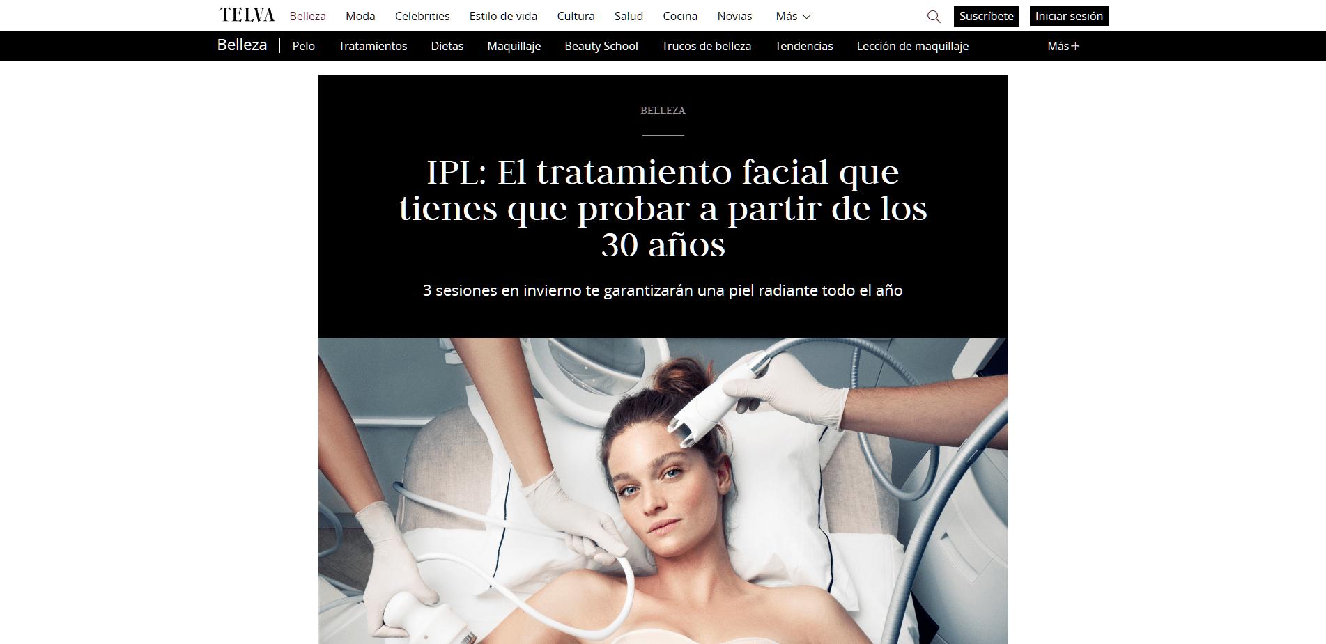 Peluqueria Vigo Sirope IPL El tratamiento facial que tienes que probar a partir de los 30 años